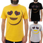 EMOJI UNION JACK HEART EYES / Mens, Black, Yellow, Grey T-Shirt