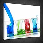MODERN COLOURFUL ALCOHOL SHOTS KITCHEN BOX CANVAS PRINT WALL ART PICTURE