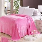 Solid Color Plush Throw Super Soft Cozy Diamond Flannel Blanket Full Queen King