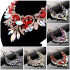 Fashion Rhinestone Necklace Earrings Set Charm Crystal Women Wedding Jewelry