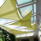 Sun Shade Sail Canary Yellow Permeable UV Block Outdoor Canopy Awning W/8'' Kit