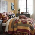 3PC HAZELWOOD PRIMITIVE FARMHOUSE STAR LODGE BED QUEEN CAL KING QUILT SET VHC