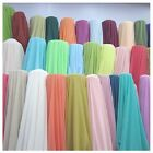 "35 Yards Chiffon Fabric 60"" Wide Roll Sheer Draping 40 Color Wedding Party Decor"