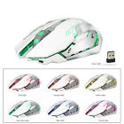X70 7 LED Backlit Rechargeable 2.4GHz Wireless USB Optical Gaming Mouse Mice US