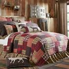 5PC WYATT COUNTRY PRIMITIVE BRICK WALL QUILT SHAMS PILLOW CASES BED SET VHC