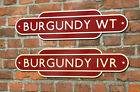 Railway Totem Sign House Number Train Station Personalised Metal Sign Quality**