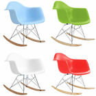 PATCHWORK TULIP EIFFEL DINING CHAIR RETRO WOODEN ROCKING CHARLES EAMES STYLE
