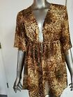 NWT Jaclyn Smith Animal Print Tie Front Tunic