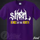 SKOL Vikings T-Shirt Kings Shield The North Chant Minnesota Football Fan Jersey