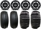 "KMC Machete Beadlock 14"" Wheels 28"" Sand Stripper Tires Can-Am Defender"