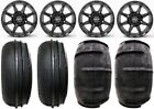 "STI HD6 14"" Black UTV Wheels 28"" Sand Stripper Tires Can-Am Defender"