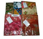 5 Pcs Pack of Small Vintage Magic Wrap Sari Skirt For Girls/Women - Multi Choice