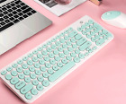 Fashion Color 2.4Ghz Wireless Multimedia Keyboard and Mouse Set For PC Laptop.