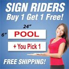 pro rider golf trolley review - POOL Real Estate Sign Rider + You Pick 1 Extra Sign 6x24 PAIR (2) RH
