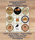 Colourful Cute Personalized HALLOWEEN 1 FALL ROUND Address Labels Pumpkins Crows $3.79 USD on eBay