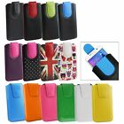 Stylish PU Leather Pouch Case Sleeve has Pull Tab for Haier G100 photo