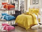 3PC GEOMETRIC/SOLID DUVET COVER SET FOR COMFORTER BED SOFTEST COVERLET MODERN image