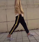 New Industrial Side Taped Jogger Pants Sweatpants Yellow Silver Taped Streetwear