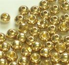 PREMIUM GOLD BRASS BEADS FOR FLY TYING - 8 SIZES TO PICK FROM - 100 COUNT