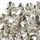 SILVER HOURGLASS BRASS BEADS FOR FLY TYING - 5 SIZES TO PICK FROM - 25 COUNT