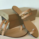 Tapeet Vicini 'Janis'' Y40047 Beige Slip  on Leather Sandal Gold beads NEW