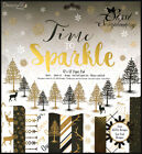 LOT 16 PAPIER FEUILLE SCRAPBOOKING CARTE VINTAGE HIVER LUXE GOLD BLACK 20 30 15