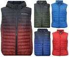 New Mens Crosshatch BOXHILL Padded Quilted Lined Bodywarmer Gilet Winter S-XL