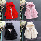 Baby Kids Girls Winter Warm Cute Coat Fleece Fur Jacket Hooded Princess Outwear