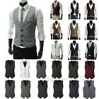 Men's Suit Vest Formal Business Slim Wedding Tuxedo Waistcoat Jacket Coat Tops