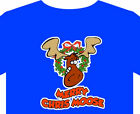 Christmas T Shirt - up to 5XL Merry Cris-moose tree star lights gift