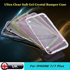 For Apple iPhone 7& 7 Plus Soft Crystal Clear Case Cover Shockproof Bumper Plug