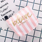 1X Women Canvas Bag Student Pencil Case Makeup Pouch Wallet Cosmetic School Gift