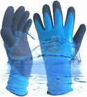 Fully Latex Grip Gloves EN388 Waterproof Fully Coated Nylon Blue For Wet Working