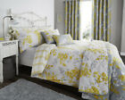 Sophia Floral Yellow Print Luxury Duvet Sets Matching Bedroom Accessories