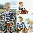 Fashion Toddler Baby Boys Long Sleeve T-shirt Top Long Pants Outfits Set Clothes