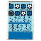 Lovely Hello kitty Flowers Blue Silicone TPU Case Cover For Samsung iPad A08D61