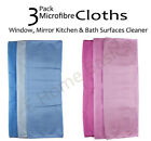 Pack of 3  Microfiber Cloth Cleaner for Home,Office,Bath and Kitchen Cleaning
