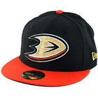 New Era 59Fifty Anaheim Mighty Ducks Fitted Hat (Black/Orange) Men's NHL Cap on eBay