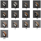 Black Silver Brown Wood Tungsten Carbide Ring Wedding Band Mens Jewelry
