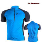 US Stock Men's Bike Jersey Clothing Half Zipper Cycling Breathable Tee Shirts