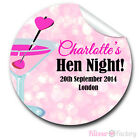 Personalised Cocktail sparkles HEN NIGHT PARTY bags labels GLOSSY STICKERS