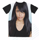 New Fashion Womens/Mens Aaliyah Funny 3D Print Casual T-Shirt  FT120