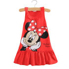 Summer Infant Baby Girl Minnie Mouse Party Swing Dress Cartoon Cute Mini Skirt