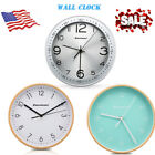 Large Non-Ticking Wall Clock Metal/Wooden Silent Quartz Indoor/Outdoor Home Deco