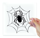 Spider on Web Vinyl Stickers Decals Laptop Macbook Bumper Moto Car Auto Tablet