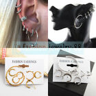 7PCS Bohemia Fashion Women Earrings Set Vintage C Shape Ear Studs Clip Jewelry