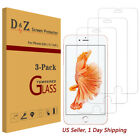 Premium Real Tempered Glass Screen Protector for Apple iPhone 6s 7 Plus D&Z Tech