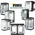 IPOWER 10x10 7x7 10x5 Mylar Grow Tent Kit Hydroponic Grow Light LED Fan Filter