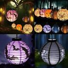 Round Paper Lantern LED Light Lantern Hanging Lamp Halloween Party TXSU