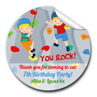 1xA4 Sheet Personalised ROCK climbing Wall Birthday Party bags GLOSSY STICKERS
